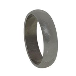 Aliança lisa de 5 mm c/ banho onix - Clique para maiores detalhes