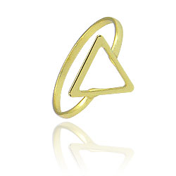 Anel folheado a ouro c/ detalhe em forma de triângulo - Clique para maiores detalhes