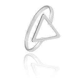 Anel folheado a prata c/ detalhe em forma de triângulo - Clique para maiores detalhes