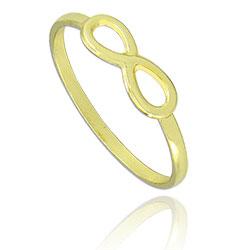 Anel folheado a ouro c/ símbolo do infinito - Clique para maiores detalhes