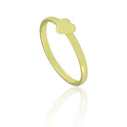 Anel de falange (ou infantil) folheado a ouro com coração - Clique para maiores detalhes