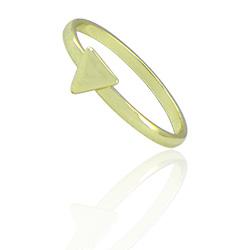 Anel de falange (ou infantil) folheado a ouro com adereço em forma de triângulo - Clique para maiores detalhes