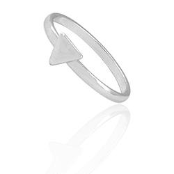 Anel de falange (ou infantil) folheado a prata com adereço em forma de triângulo - Clique para maiores detalhes