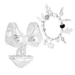 Berloque folheado a prata em forma de biquíni (Pandora inspired) - Clique para maiores detalhes