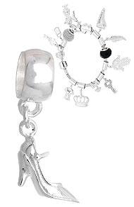 Berloque folheado a prata em forma de sapato de salto (Pandora inspired) - Clique para maiores detalhes