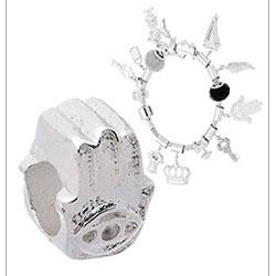 Berloque Mão de Fátima folheado a prata (Pandora inspired) - Clique para maiores detalhes