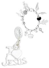 Berloque I LOVE JESUS folheado a prata (Pandora inspired) - Clique para maiores detalhes