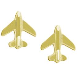 Brinco folheado a ouro em forma de aviãozinho - Clique para maiores detalhes