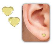 Brinco mini coração folheado a ouro - Clique para maiores detalhes