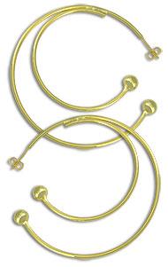 Brinco de argola folheado a ouro, semelhante ao utilizado pela personagem Laureta (Segundo Sol) - Clique para maiores detalhes