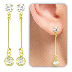 Brinco Tiffany Inspired folheado a ouro - Clique para maiores detalhes