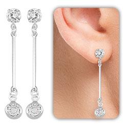 Brinco Tiffany Inspired folheado a prata - Clique para maiores detalhes
