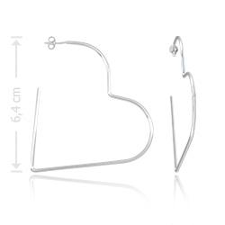 Brinco de argola folheado a prata em forma de coração - Clique para maiores detalhes