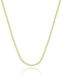 Gargantilha feminina folheada a ouro (malha 1 x 1) - Clique para maiores detalhes