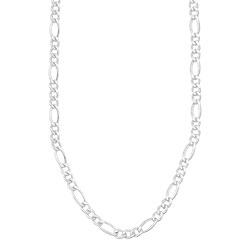 Corrente masculina folheada a prata c/ elos 3 x 1 - Clique para maiores detalhes