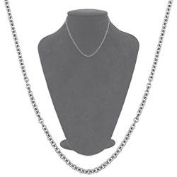 Gargantilha masculina em aço inox com malha cadeadinho - Clique para maiores detalhes