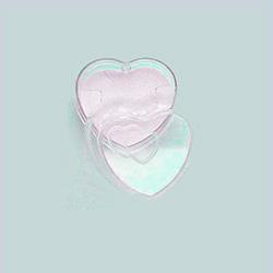 Caixinha de acrílico em forma de coração - Clique para maiores detalhes