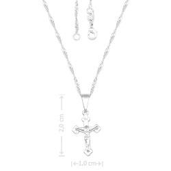 Gargantilha folheada a prata com crucifixo - Clique para maiores detalhes