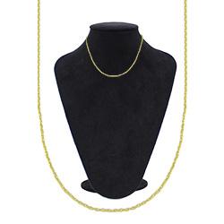 Gargantilha cadeadinho fina folheada a ouro - Clique para maiores detalhes