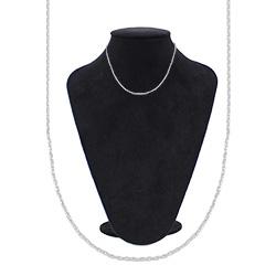 Gargantilha cadeadinho fina folheada a prata - Clique para maiores detalhes