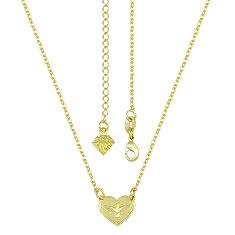 Gargantilha folheada a ouro c/ coração simbolizando o Divino Espírito Santo - Clique para maiores detalhes