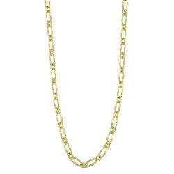 Gargantilha feminina longa folheada a ouro com elos grossos - Clique para maiores detalhes