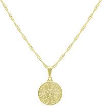 Gargantilha folheada a ouro com pingente c/ a estampa do sol (linha esotéricos) - Clique para maiores detalhes