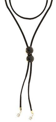 Gargantilha Choker (ajustável no pescoço) c/ pedras cabochão acrílicas - Clique para maiores detalhes