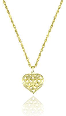 Gargantilha folheada a ouro c/ pingente de coração (semelhante à utilizada pela personagem Sofia - O Outro Lado do Paraíso) - Clique para maiores detalhes
