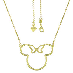 Gargantilha Minnie folheada a ouro - Clique para maiores detalhes
