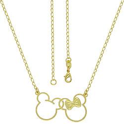 Gargantilha Mickey e Minnie folheada a ouro - Clique para maiores detalhes
