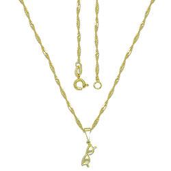 Gargantilha folheada a ouro e pingente em forma de óculos - Clique para maiores detalhes