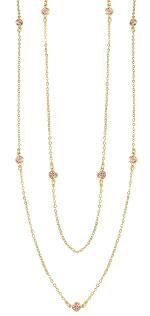 Gargantilha Tiffany Inspired folheada a ouro c/ pedras no cor rosa - Clique para maiores detalhes
