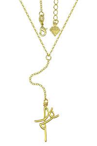 Gargantilha folheada a ouro e pingente escrito Fé - Clique para maiores detalhes