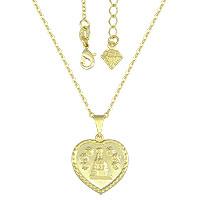 Gargantilha folheada a ouro c/ medalha de N. Sra. Aparecida - Clique para maiores detalhes