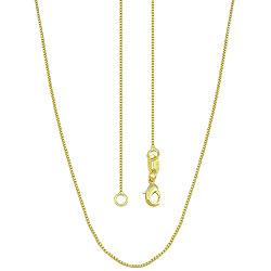 Gargantilha colheada a ouro c/ corrente veneziana - Clique para maiores detalhes