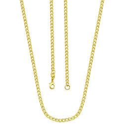 Corrente masculina folheada a ouro c/ malha grumet diamantada - Clique para maiores detalhes