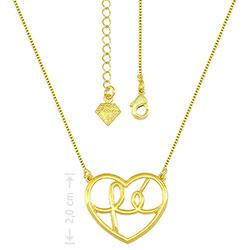 Gargantilha folheada a ouro e pingente escrito a palavra Fé - Clique para maiores detalhes