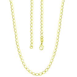 Corrente losango masculina (curta - 44 cm) folheada a ouro - Clique para maiores detalhes
