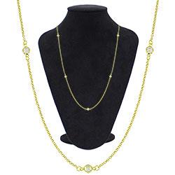 Gargantilha Tiffany Inspired folheada a ouro - Clique para maiores detalhes