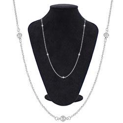 Gargantilha Tiffany Inspired folheada a prata - Clique para maiores detalhes