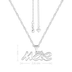 Gargantilha Mãe (c/ coroa) folheada a prata - Clique para maiores detalhes