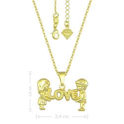 Gargantilha LOVE folheada a ouro - Clique para maiores detalhes