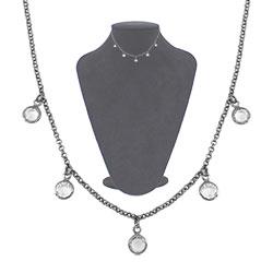 Gargantilha choker Tiffany Inspired c/ banho onix - Clique para maiores detalhes