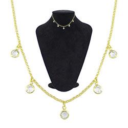 Gargantilha choker Tiffany Inspired folheada a ouro - Clique para maiores detalhes