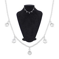 Gargantilha choker Tiffany Inspired folheada a prata - Clique para maiores detalhes