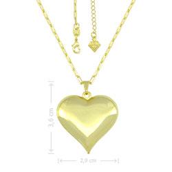 Gargantilha folheada a ouro e pingente coração, semelhante à usada pela personagem Maria da Paz  (A Dona do Pedaço) - Clique para maiores detalhes