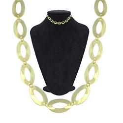 Gargantilha folheada a ouro, semelhante à usada pela personagem Maria da Paz  (A Dona do Pedaço) - Clique para maiores detalhes