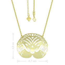 Gargantilha Leão folheada a ouro (semelhante à utilizada pela personagem Maria da Paz) - Clique para maiores detalhes