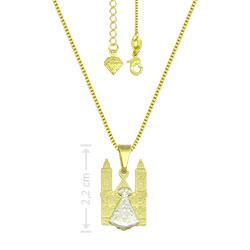 Gargantilha folheada a ouro e pingente de N. Sra. Aparecida - Clique para maiores detalhes